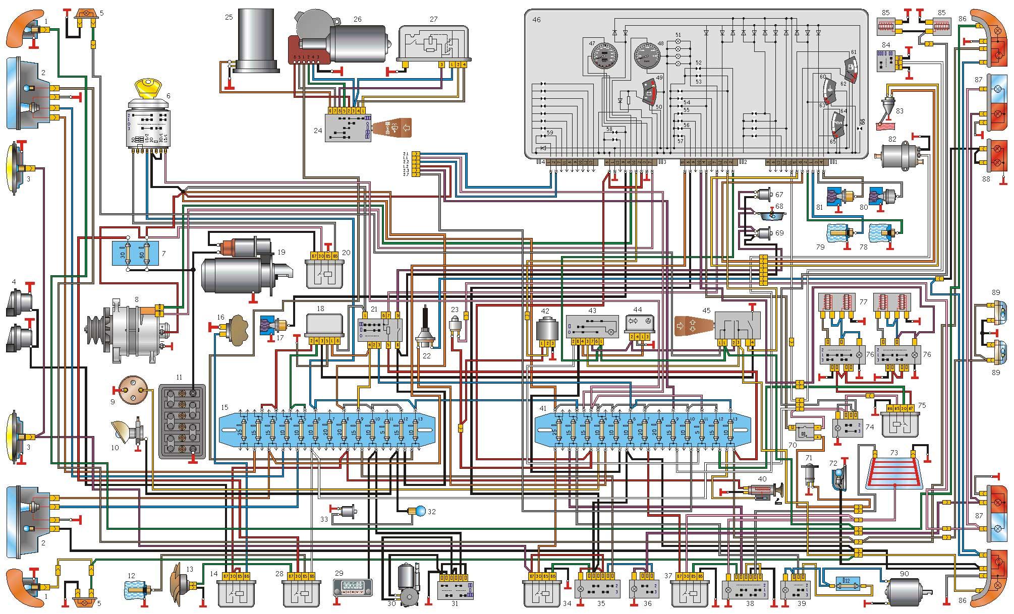 Схема газ 2410 скачать